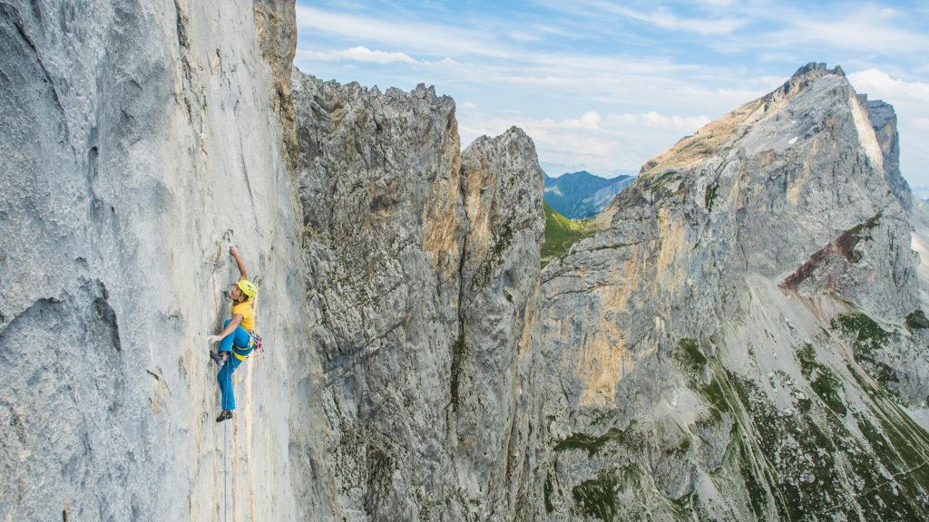 Łukasz Dudek na piątym wyciągu Silbergeiera 8b+ W Ratikonie w Szwajcarii