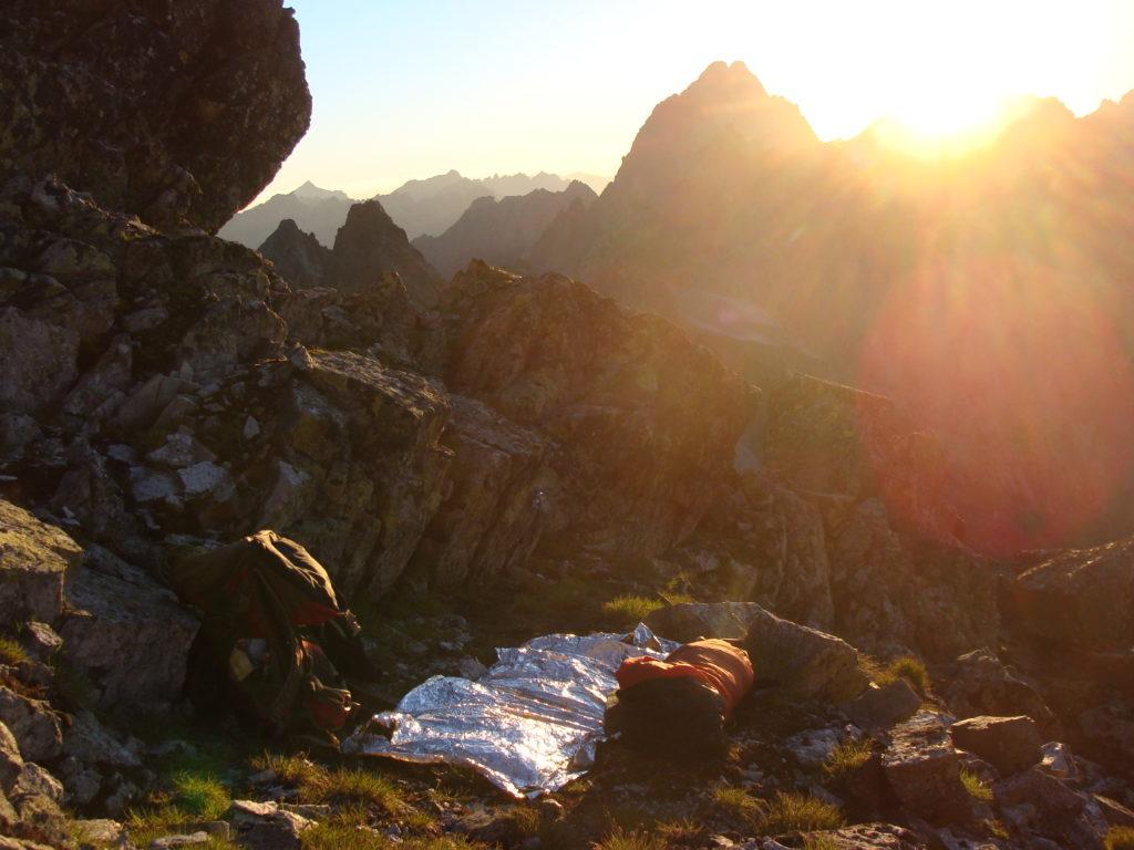 Wschodnia Batyżowiecka Przełęcz - miejsce drugiego biwaku podczas próby przejścia Grani Tatr Wysokich